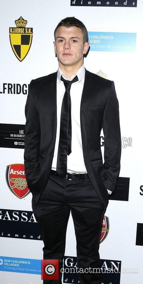 Jack Wilshere arriving at ABC for SOS ball.