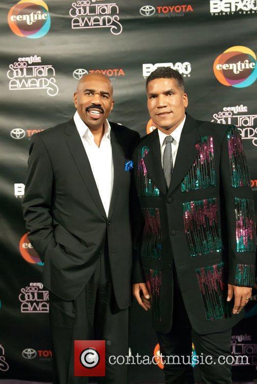 Paxton Baker and Steve Harvey Soul Train Awards...