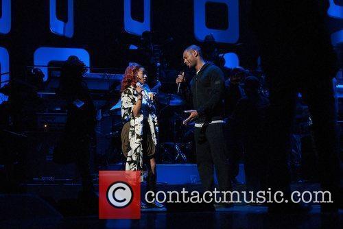 Keyshia Cole and singer/songwriter Tank Soul Train Awards...