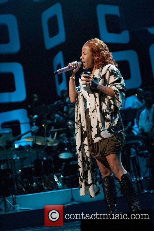Keyshia Cole Soul Train Awards Rehearsal at Cobb...