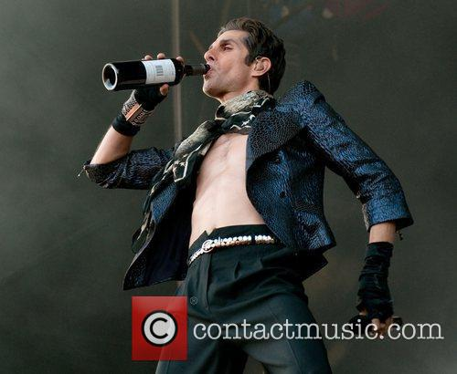 (Perry Farrell) performs on stage at Soundwave Festival...
