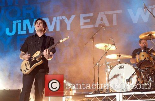 Performs on stage at Soundwave Festival at Eastern...