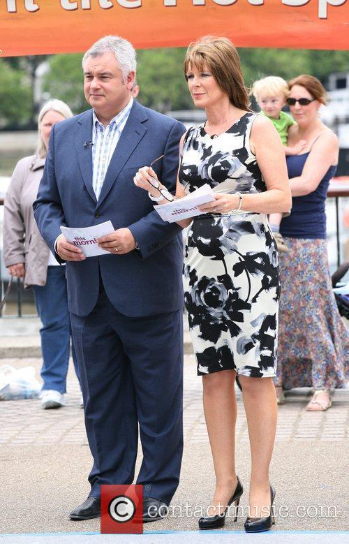 Eamonn Holmes and Ruth Langsford filming This Morning...