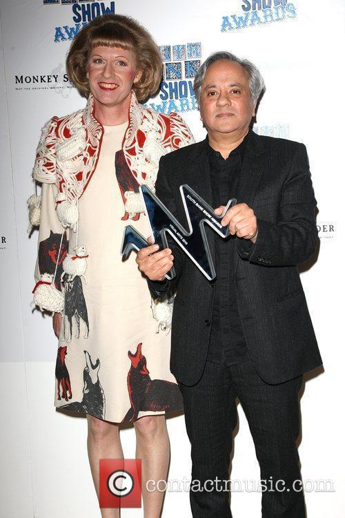 Anish Kapoor, Visual Arts winner with Grayson Perry...