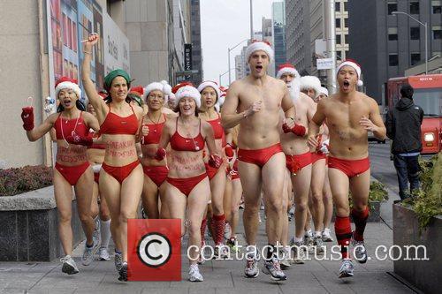 Atmosphere The 6th Annual Toronto Santa Speedo Run...