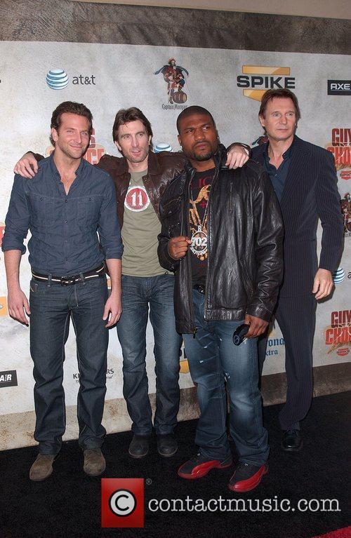 Bradley Cooper, Sharlto Copley, Quinton Jackson aka Rampage...
