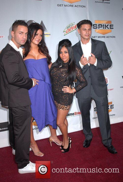 Cast of MTV's Jersey Shore Spike TV'S Video...