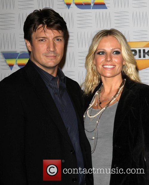 Nathan Fillion and Kate Luyben Spike TV's 2010...