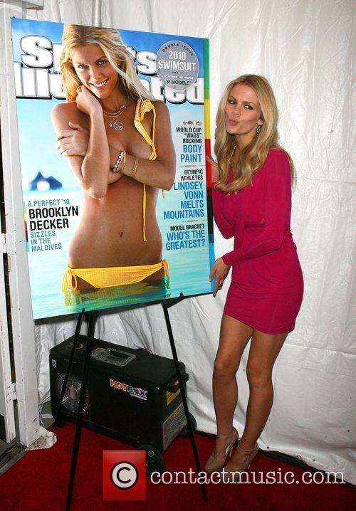 Brooklyn Decker attends the Sports Illustrated Swimsuit 24/7:...