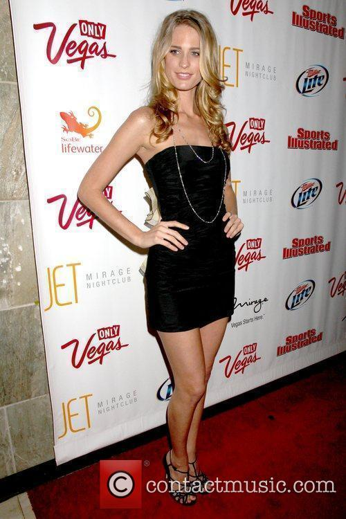 Julie Henderson Sports Illustrated Swimsuit on location party...