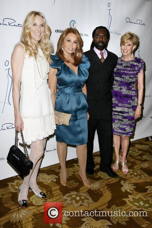 Alana Stewart, Rachel Welch, Kevan Hall and Guest...