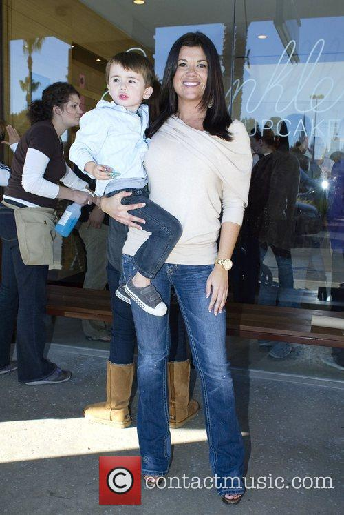 Valisha Savage and her son at the opening...