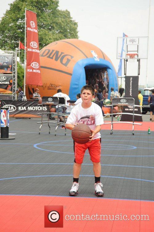 Justin Friedlander at the Sprite Slam Dunk at...
