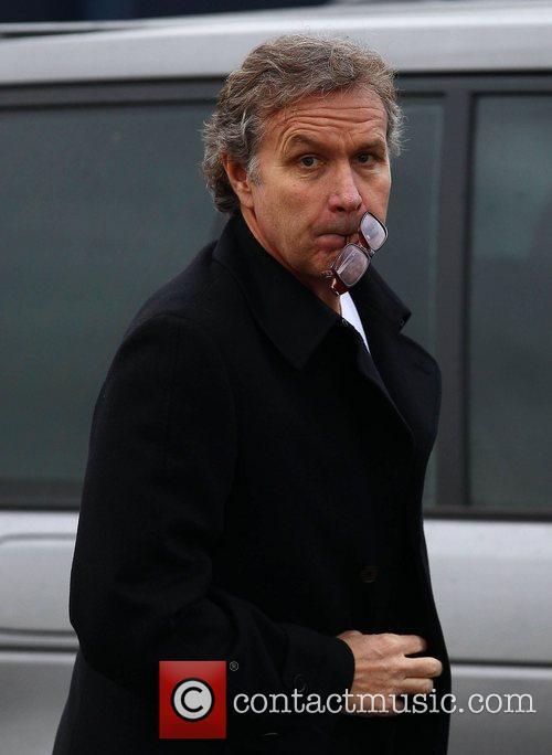 Kevin Bond arriving at the Tottenham Hotspur training...