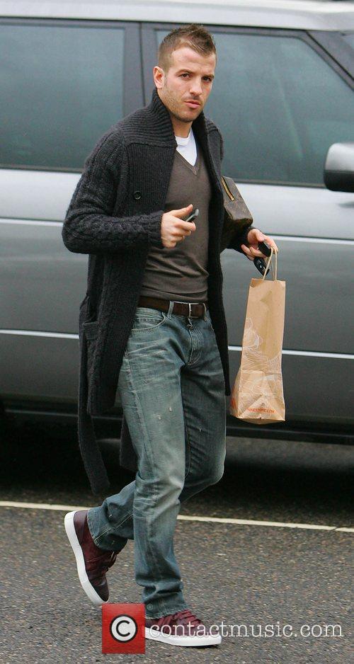Rafael van der Vaart arriving at the Tottenham...