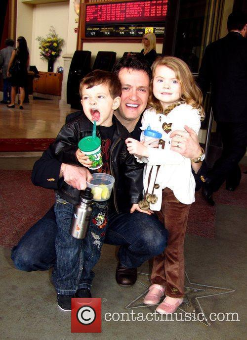 Tom Malloy with his children World Premiere of...