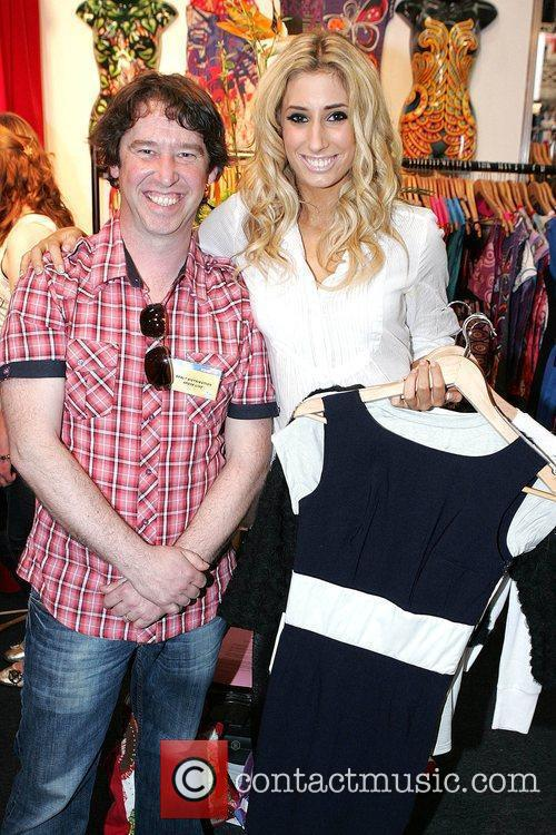 Stacey Solomon and Nick Boyle shopping during the...