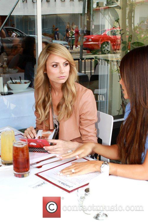Stacy Keibler meets up with friends at Jack...