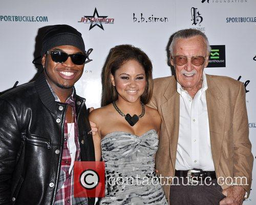 Ne-yo, Kat Deluna and Stan Lee 2