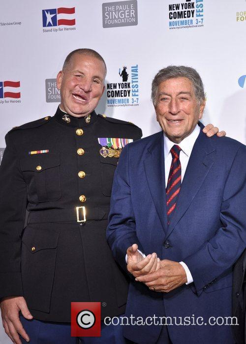 Tony Bennett United States Servicemen attend 'Stand Up...