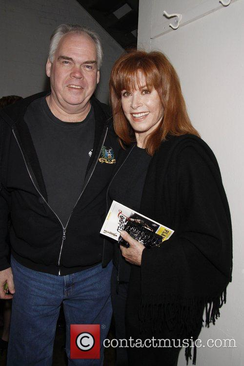Michael Mulheren and Stefanie Powers backstage at the...