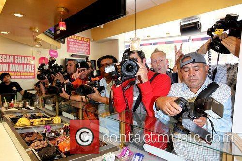 Photographers at Millions of Milkshakes in West Hollywood