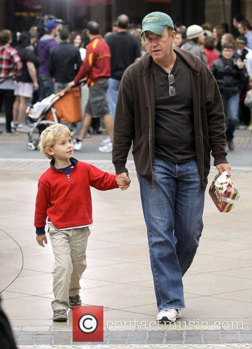 With his son shopping at The Grove
