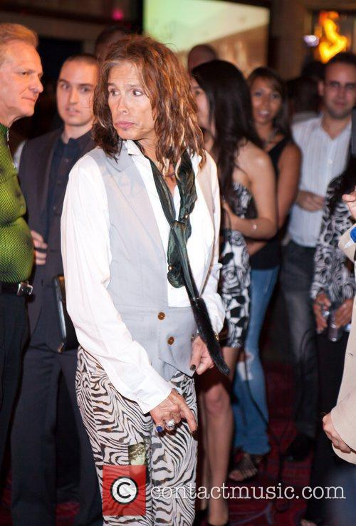 Steven Tyler of Aerosmith hosts an aftershow party...