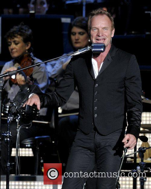Sting and The Royal Philharmonic Orchestra performing live...