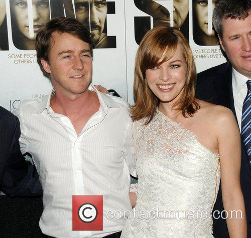 Milla Jovovich and Ed Norton 8