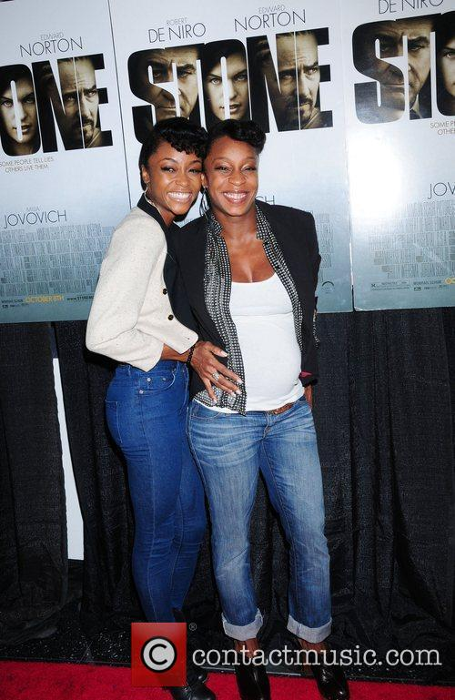 Yaya DaCosta and guest New York premiere of...