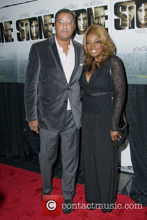 Herb Wilson and Star Jones New York premiere...