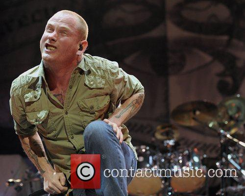 Of 'Stone Sour' performing on stage during the...