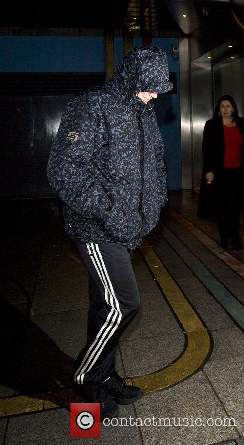 Returns to his hotel after appearing on the...