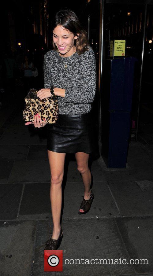 Alexa Chung arriving at Studio Valbone nightclub with...