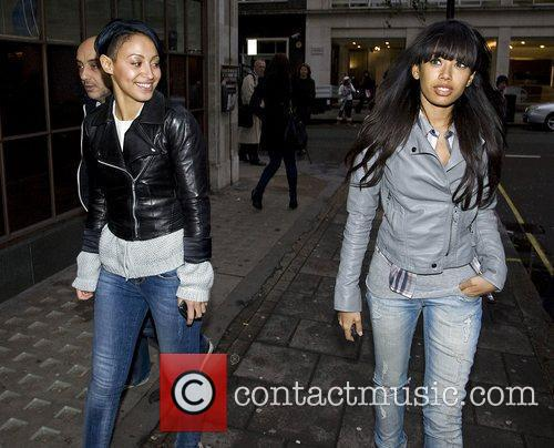 Amelle Berrabah and Jade Ewen The Sugababes outside...