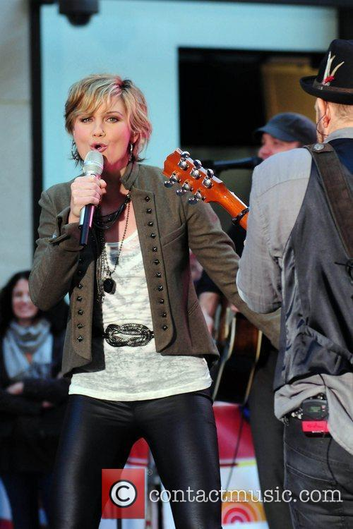 Sugarland performing live at the Rockefeller Center as...