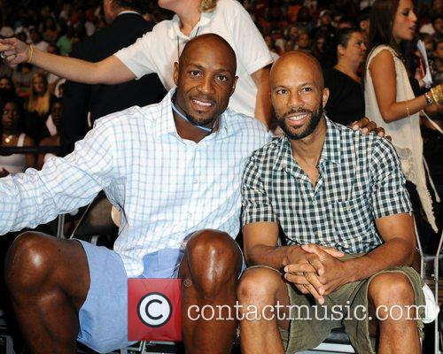 Alonzo Mourning and Common appear at the 'Zo's...