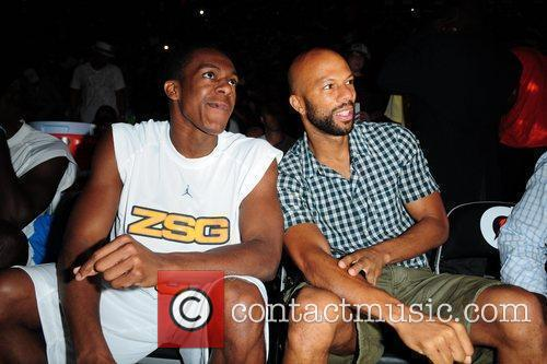 Rajon Rondo and Common at the 'Zo's Summer...