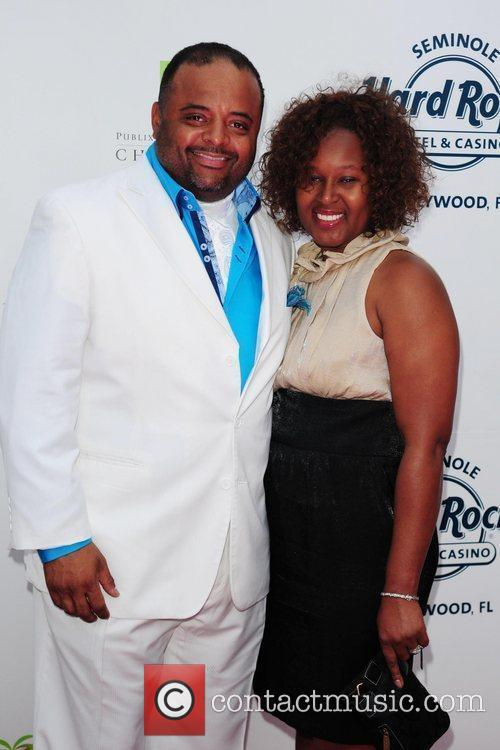 CNN analyst Roland Martin and his wife Jacquie...