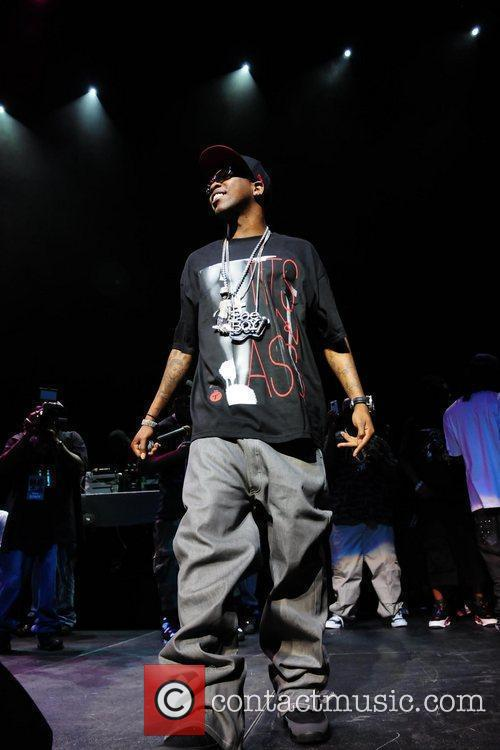 Rapper Brisco performs during the Summer Jam Concert...