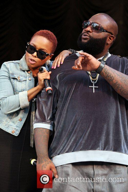 Chrisette Michelle, Rick Ross performing live at 2010...