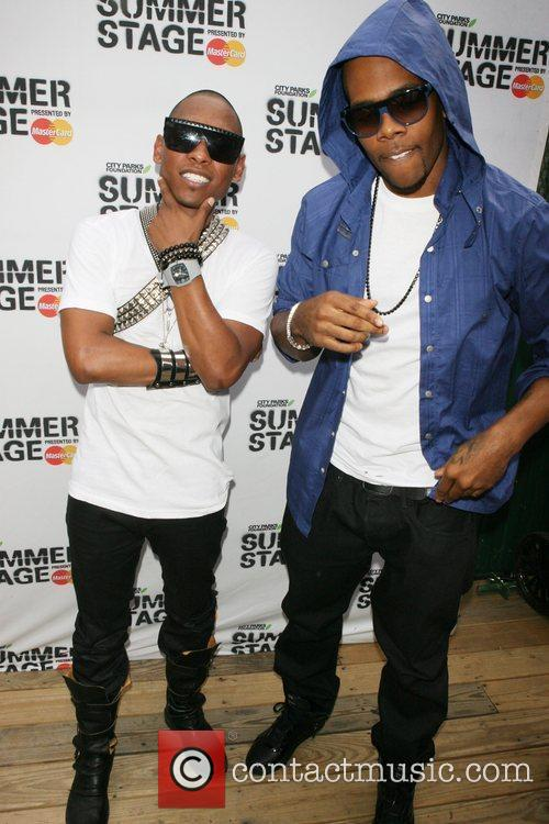 Miguel and Mario arriving at 2010 Summerstage at...