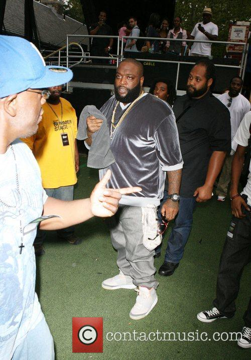 Rick Ross performing live at 2010 Summerstage at...