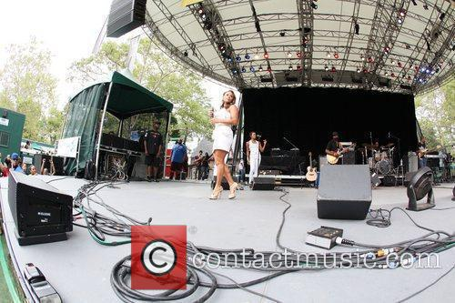 Performing live at 2010 Summerstage at Central Park