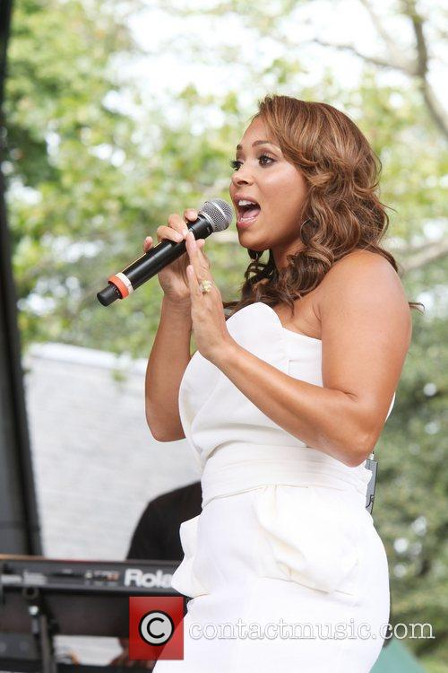 Tamia performing live at 2010 Summerstage at Central...