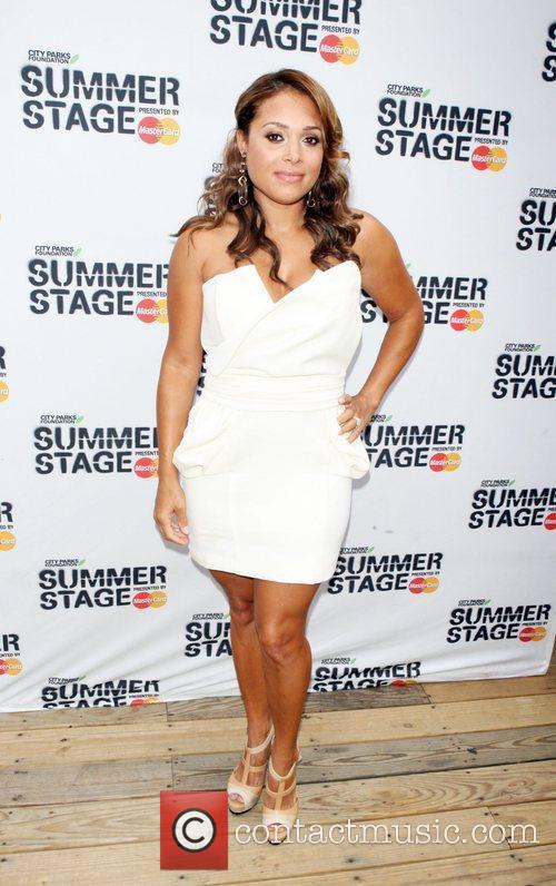 Tamia arrives at 2010 Summerstage at Central Park...