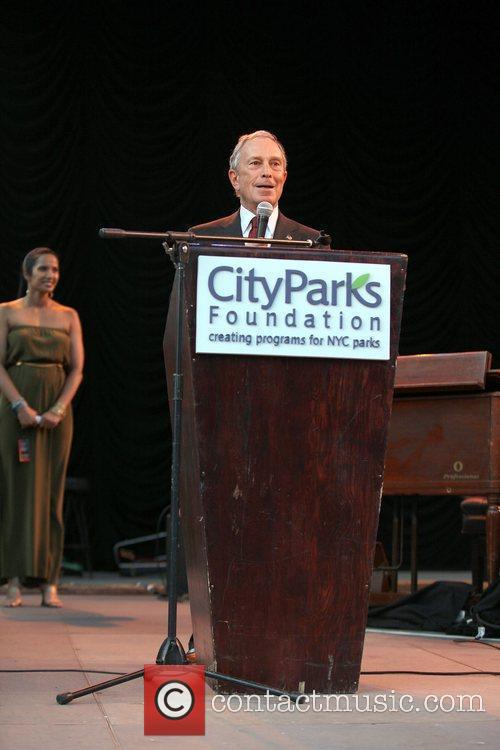Mayor Michael Bloomberg  Summerstage city parks foundation...