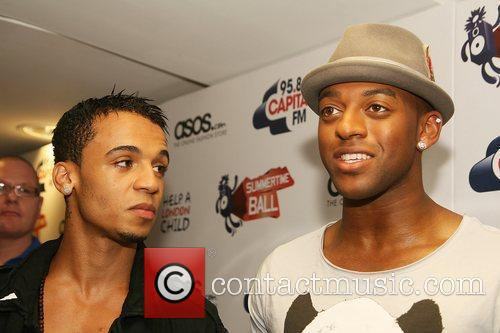 Aston Merrygold, Ortise Williams of JLS The Summertime...