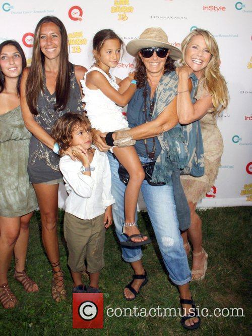 Christie Brinkley, Donna Karen and Family attend Super...